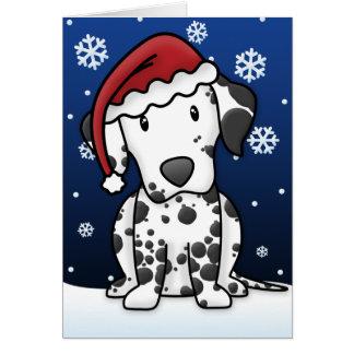 Cartão de Natal Dalmatian de Kawaii
