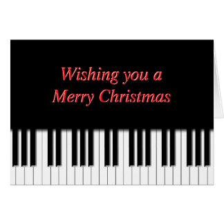 Cartão de Natal das chaves de teclado do piano