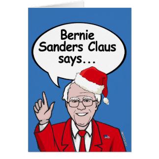 Cartão de Natal das máquinas de lixar de Bernie -