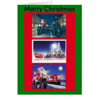 Cartão de Natal das motocicletas