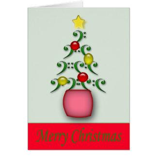 Cartão de Natal das notas musicais