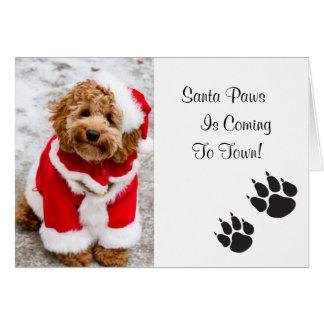 Cartão de Natal das patas do papai noel