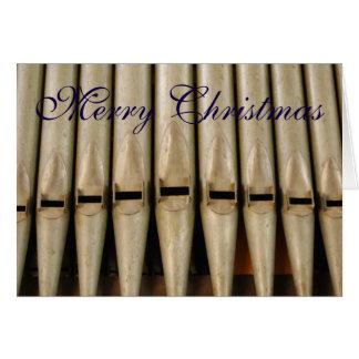 Cartão de Natal das tubulações de órgão