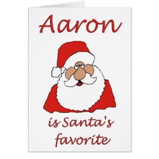 cartão de Natal de Aaron