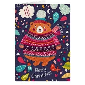 Cartão de Natal de Beary!