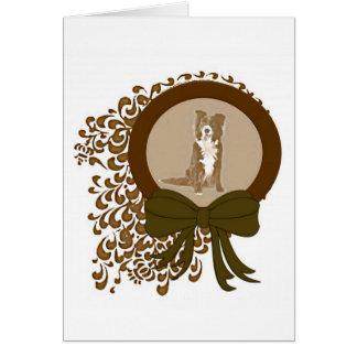 Cartão de Natal de border collie