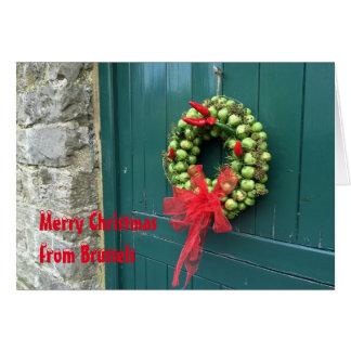 Cartão de Natal de Bruxelas