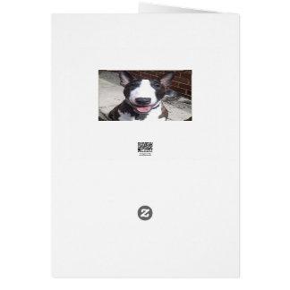 Cartão de Natal de bull terrier