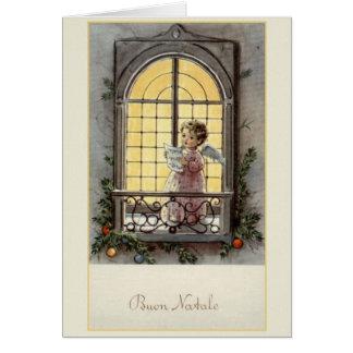 Cartão de Natal de Buon Natale do italiano do