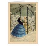 Cartão de Natal de Buon Natale do italiano do vint