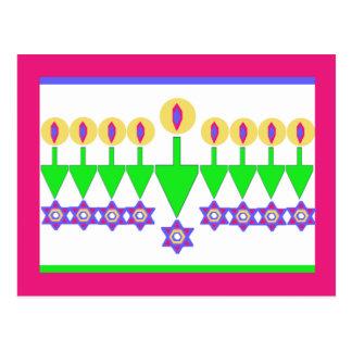 Cartão de Natal de cabeça para baixo de Hanukkah