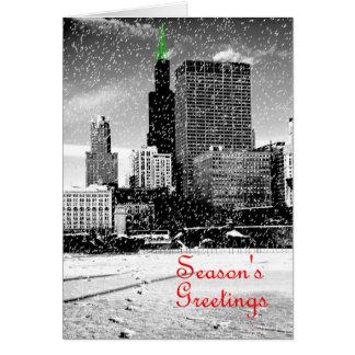 Cartão de Natal de Chicago