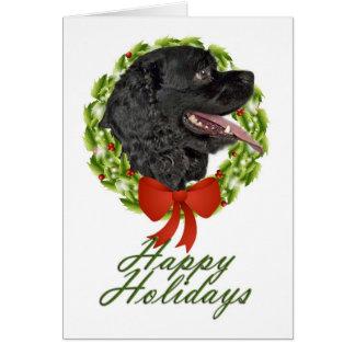 Cartão de Natal de cocker spaniel