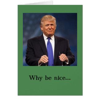 Cartão de Natal de Donald Trump -- Impertinente e