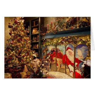 Cartão de Natal de Elegent com papai noel e