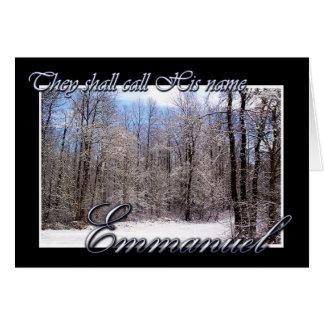 Cartão de Natal de Emmanuel