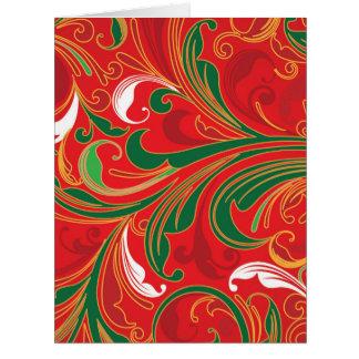 Cartão de Natal de Enorme Fleur De Noel