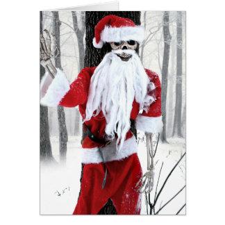 Cartão de Natal de esqueleto