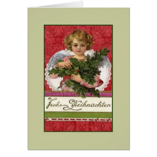 Cartão de Natal de Frohe Weihnachten do alemão do