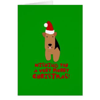 Cartão de Natal de galês Terrier