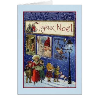 Cartão de Natal de Joyeux Noël do francês do