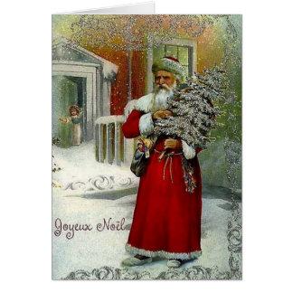 Cartão de Natal de Joyeux Noel do francês do