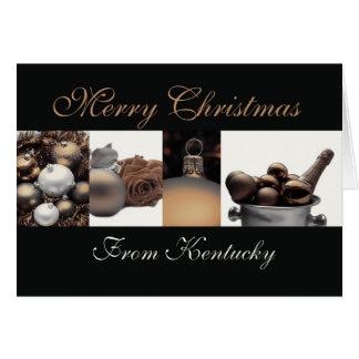 Cartão de Natal de Kentucky com ornamento