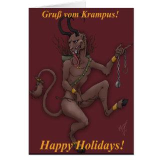Cartão de Natal de Krampus