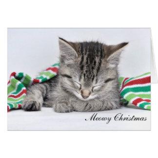 Cartão de Natal de Meowy