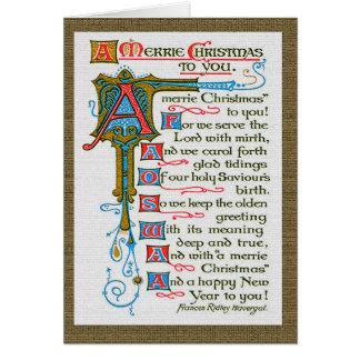 Cartão de Natal de Merrie