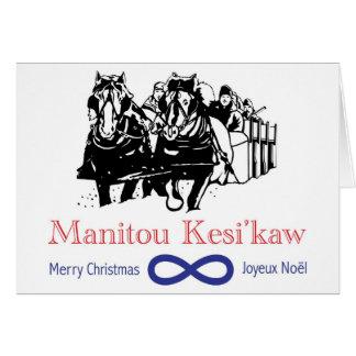 Cartão de Natal de Metis Sleighride