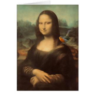 Cartão de Natal de Mona Lisa