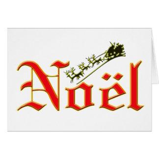Cartão de Natal de Noel e de papai noel