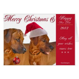 Cartão de Natal de Rhodesian Ridgeback