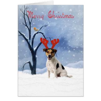 cartão de Natal de russell do jaque - o buldogue