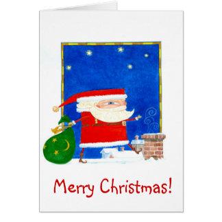 Cartão de Natal de Sant Claus