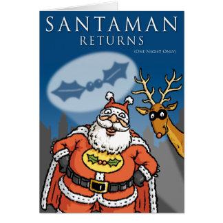Cartão de Natal de Santaman