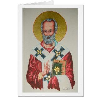Cartão de Natal de São Nicolau