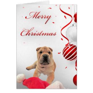Cartão de Natal de Shar-Pei