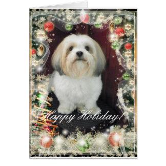 Cartão de Natal de ShihTzu