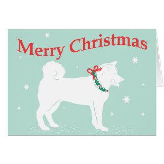Cartão de Natal de Shiva Inu