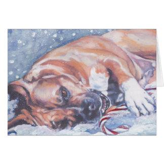 Cartão de Natal de Staffordshire Terrier americano