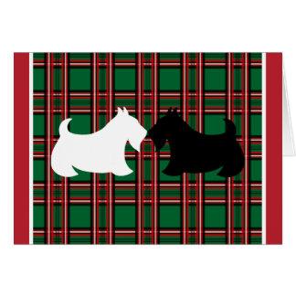 Cartão de Natal de Terrier do Scottish
