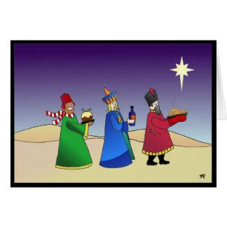 Cartão de Natal de três homens sábios