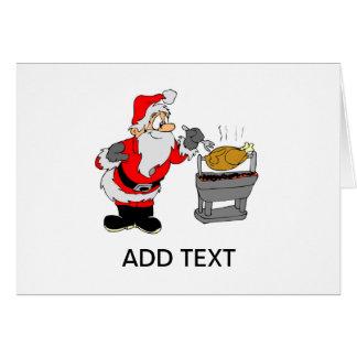 Cartão de Natal de Turquia do CHURRASCO do