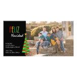 Cartão de Natal de Vibrante Feliz Navidad Foto Cartão Com Foto
