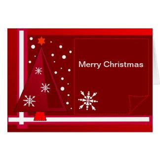 Cartão de Natal decorativo com texto