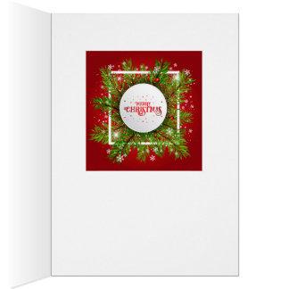 Cartão de Natal descuidado do Spaniel de rei