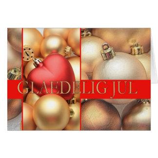 Cartão de Natal dinamarquês - Glædelig julho