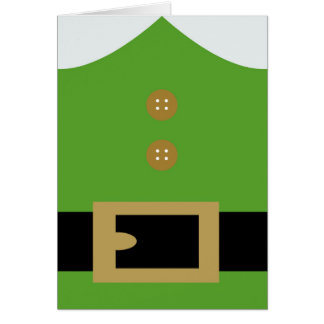 Cartão de Natal do ajudante do papai noel do